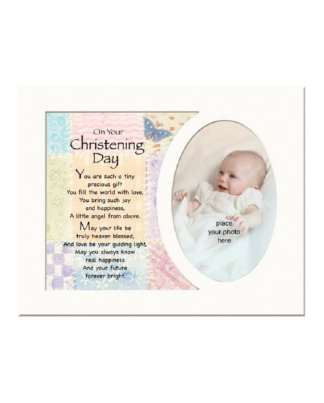 Christening Memory Mount to Frame