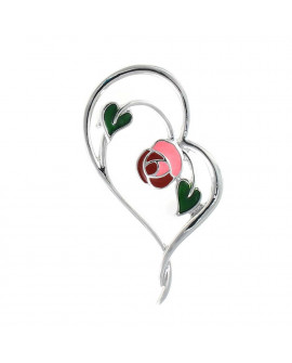 Lila Heart Brooch