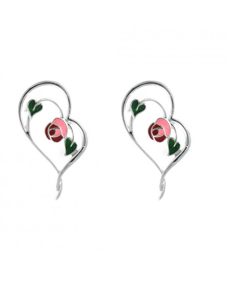 Lila Heart Earrings Set