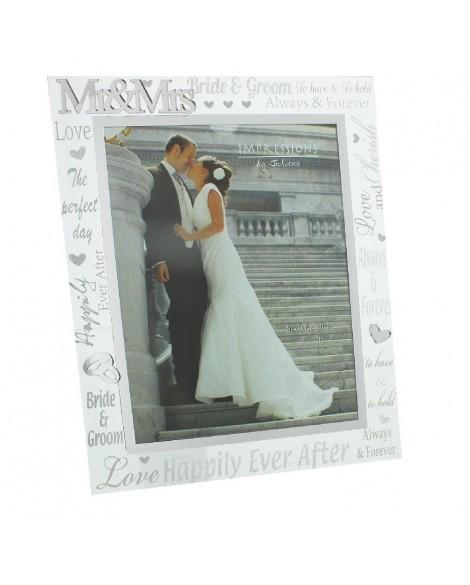 "Wedding Gift Photo Frame Mirror Glass 8""x10"""